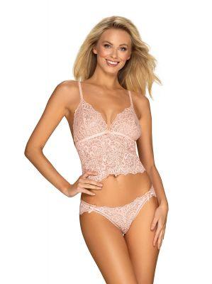 Комплект Obsessive Delicanta Top & Panties Pink