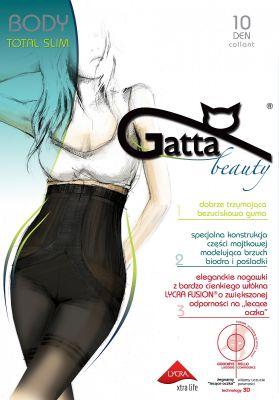 Колготки Gatta Body Total Slim Fusion 10 den 5-XL