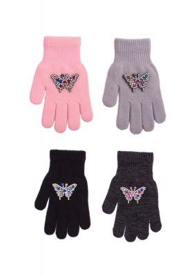 Перчатки Rak R-182 z Motylkiem dziewczęce
